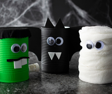 Halloween Spooky Cans
