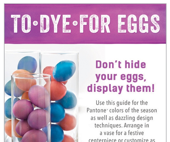 Infographic on dying eggs. - 12088