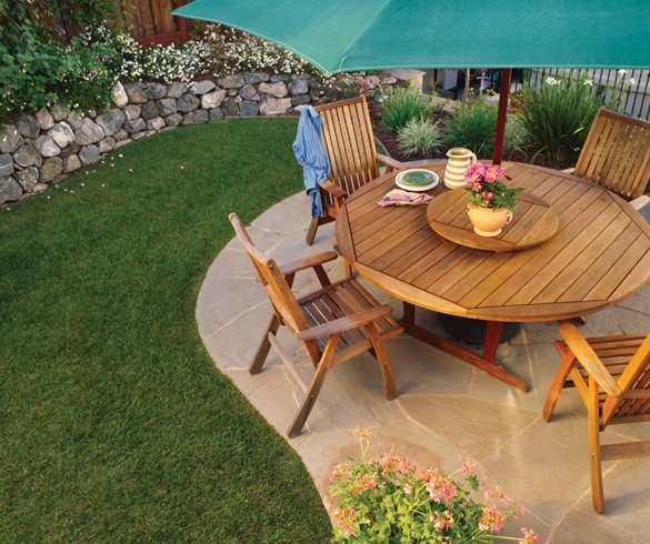 Outdoor patio with furniture - 11486