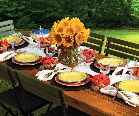 Place setting for outdoor gathering - 11568