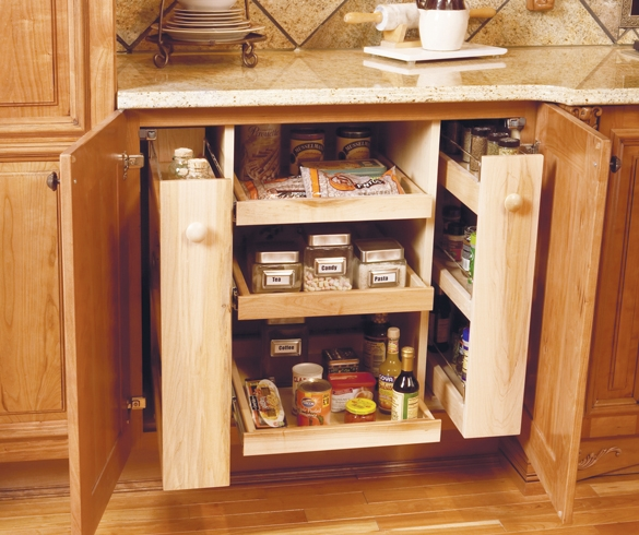 Organized lower cabinet with pull out drawers. - 12355