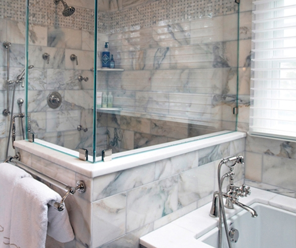 Natural Stone in the Shower-13604