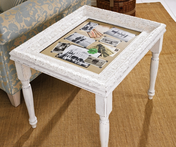 DIY refurbished end table. - 11450
