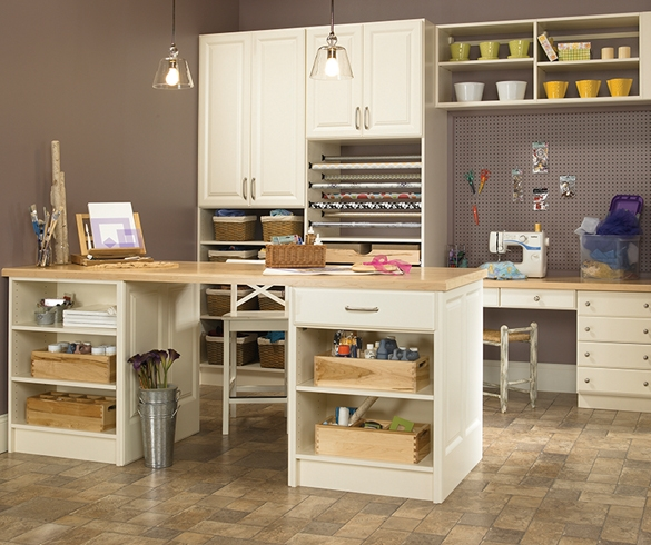 Organized cabinetry in a craft space - 12930
