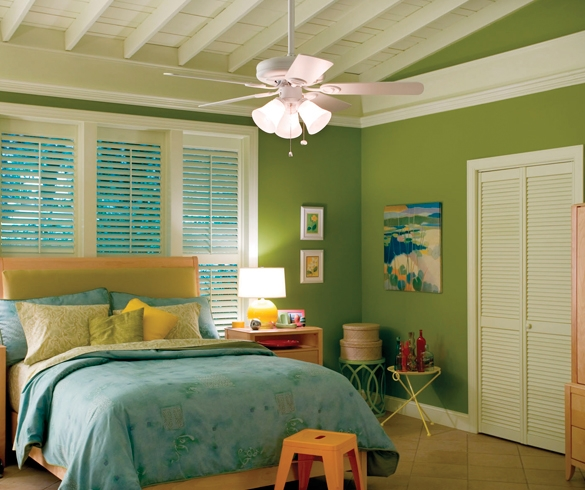 Decorated bedroom with lighting - 11754
